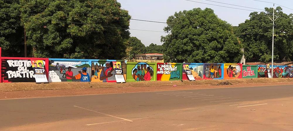 A travers l'art ''Guinée Challenge'' sensibilise contre la migration irrégulière